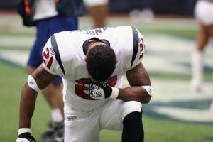 NFL Player Praying